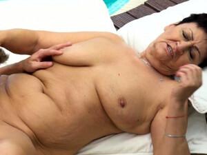 Massaged Granny Spermed