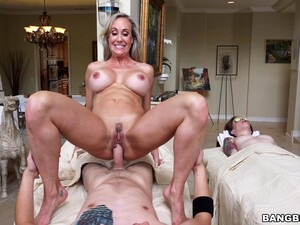 While Girlfriend Gets A Massage Her BF Fucks Busty Brandi Love