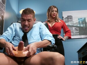 Sexy And Busty Karma RXenjoys Rough Fuck With Her Boss In The Office