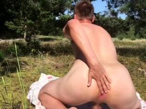 Big Male Ass At Beach Oiled Fingering