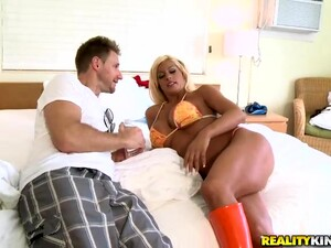 Blonde Whore Mounts A Very Hard Dick