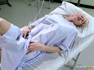 Doctor Fucks A Patients Husband In Front Of Her And Takes A Cumshot