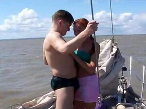 Take A Look At This Fat-bottom Kimberly Fucking Hot On The Yacht