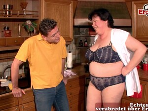 German Fat Ugly Mother Housewife Fuck In Kitche