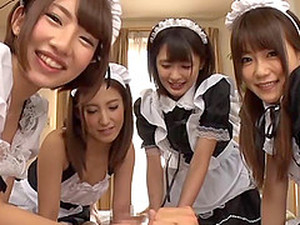 Four Japanese Hotel Maids Want Your Cock Inside Them