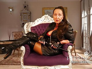 Jerk Off Instruction For Submissive Leather Licking Slave