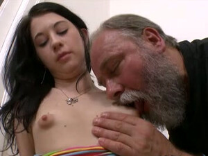 Brunette Teen Olga Gets Her Pussy Licked And Fucked By An Old Man
