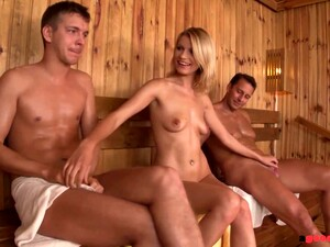 Ayntritli Crotch Muscle Workout With Bella Baby & Timea Bela Leads To Threesome Fuck