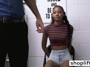 Petite Ebony Teen Paid Her Felony To A Dirty Cop With Blowjob