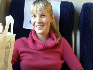 Lusty Czech Chick Veronica Gives Deepthroat Blowjob In The Train
