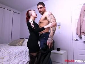 Two Well Endowed Twins Fuck Furiously Slutty Emo Girlfriend Lydya Moser