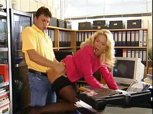 Gorgeous Office Whore Getting Pounded On Her Own Desk