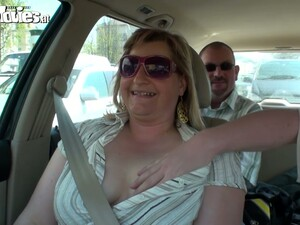 Ugly Fat Bitch Jerks Off Dick In The Car