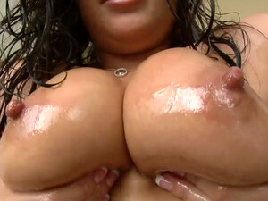 Oiled Up Hooker London Gives Awesome Footjob In POV Clip