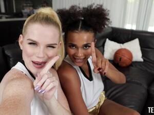 Interracial FFM Threesome With Sluts Nikki Sweets And Alina Ali