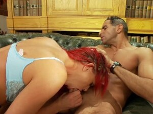 Busty Redhead Teen Fucked Hard By Monster Cock And Get Cum Covered