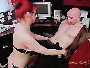 Secretary In Stockings Sucks Cock In The Office