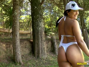 Latina Hottie Enjoys Getting A Delicious Outdoor Anal