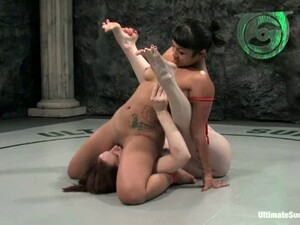 Horny DragonLily Punishes Claire Adams During A Fight
