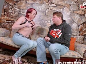 German Red-haired MILF Fucks Her New Boyfriend