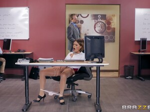 Office Missionary Fuck And Cum On Boobs For Secretary Krissy Lynn