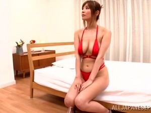 Busty Siren In Red Bikini Gets Toyed And Fucked