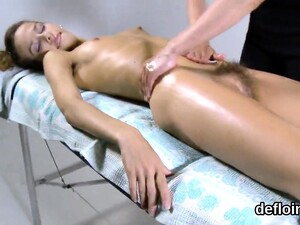 Lovesome Teenie Opens Up Slim Snatch And Loses Virginity