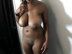 Amateur Busty Ebony Fucks Her Man In The Office