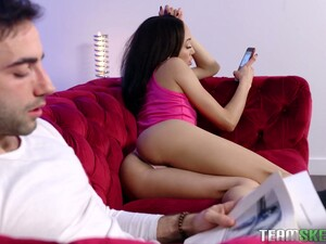 Lusty Cheated GF Alexis Tae Actually Joins Her BF And Slut For MFF Threesome
