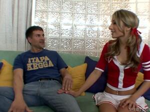 Kinky Cheerleader Natalia Rossi Rides Sloppy Cock With Total Dedication