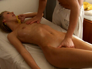 Skinny Light Haired Sex Doll Got Her Oiled Up Vagina Polished In Mish Style