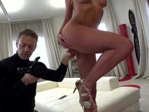 Attractive Blonde Cowgirl Marilyn Crystal Takes Rocco's Strong Cock Into Ass