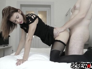 Slender Bitch With Small Tits Tera Is Poked Missionary And Doggy