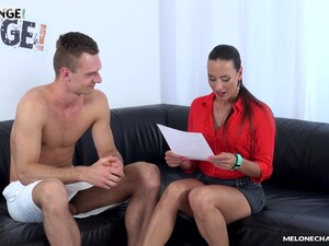 Amazing MILF In Red High Heels Mea Melone Deserves Good Doggy