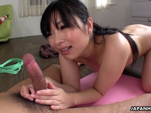 Sporty Japanese Hottie Hina Maeda Is Poked From Behind In The Gym