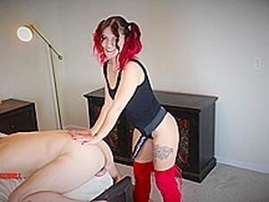 Cute Cruel Femdom Goddess Pegs Slave To Prostate Orgasm