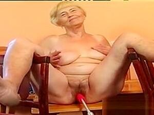 Granny Vera With A Sex Machine