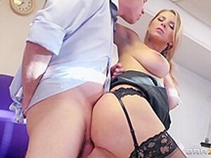 Big Tits At Work: Best Tits In The Office. Katerina, David