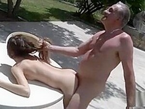 Old Man Punish Tricky Teen With Fuck
