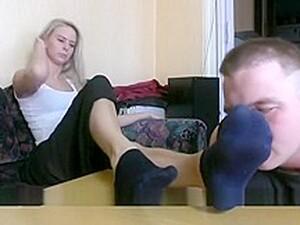 Sock Feet Slave Worship Femdom