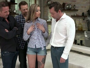 Three Hot Blooded Studs Drill In Satiable Hottie Tina R And Her Nasty Girlfriend