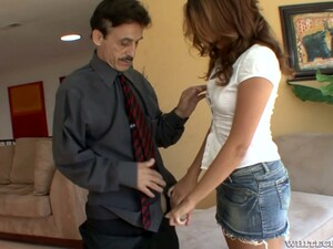 Lovely Teen Allie Haze Hooks Up With One Old Dude With A Huge Dick