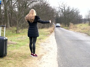 Beautiful Female Hitchhiker Gets Seduced By A Hot Lesbian Amirah Adara