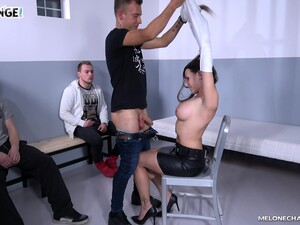 Dudes Watch While A Lucky One Fucks Stunning Pornstar Mea Melone