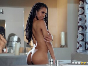 Slender Ebony Slut Kira Noir Gets A Hard Fuck And A Huge Facial