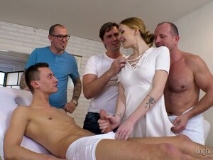 Fervent Czech Nurse Doesn't Mind Being Gangbanged Hard By Aroused Men