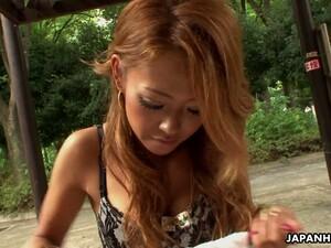 Chestnut Haired Sweet Like Candy Hottie Rei Miyakawa Gives A Sensual Blowjob