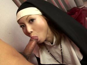 Nasty Japanese Nun Rika Sakurai Likes Hard Fuck After Giving Head