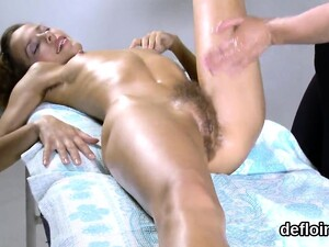 Lovesome Cutie Stretches Soft Twat And Gets Deflowered