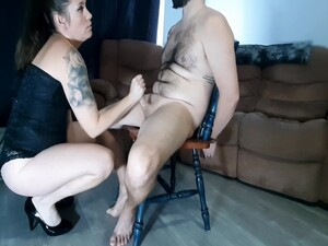 Teased And Denied Until I Ruin His Orgasm. Huge Cumshot